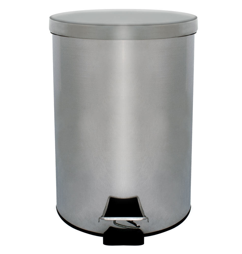 Stainless steel waste bin easy clean surface and interior